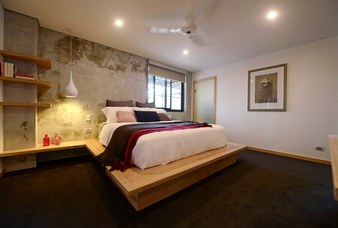 How To Get Polished Concrete Walls Like Matt And Kimu0027s From The Block  Channel Nine