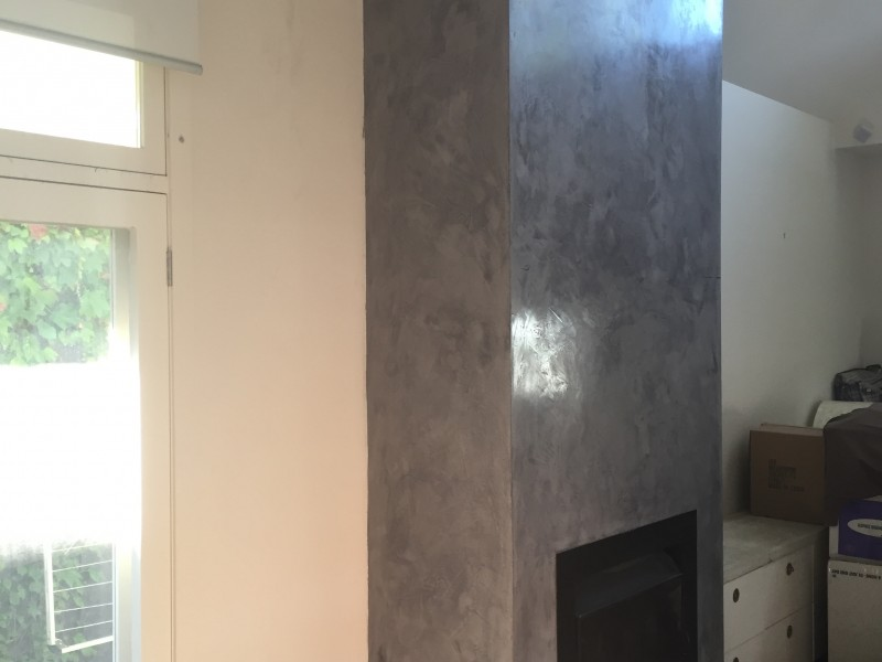 SMOKE AND MIRRORS…A VENETIAN PLASTER FIREPLACE