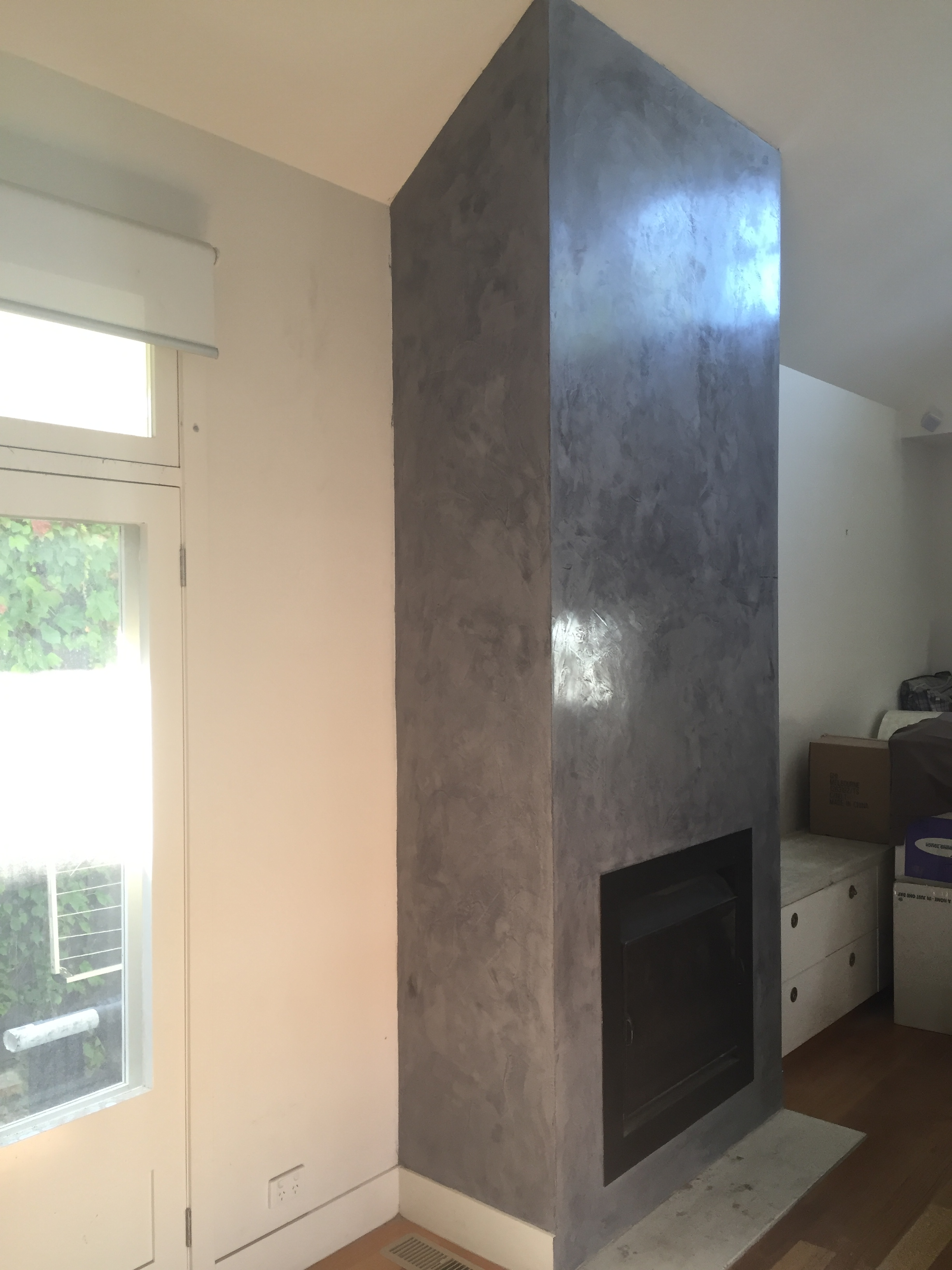 smoke and mirrors a venetian plaster fireplace render it oz