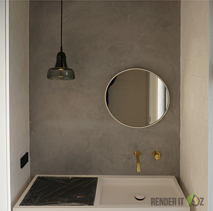 A Modern And Edgy Ensuite With Floor To Ceiling Tadelakt