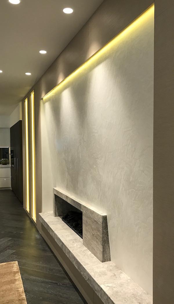 Daring Display White Venetian Plaster Feature Render It Oz