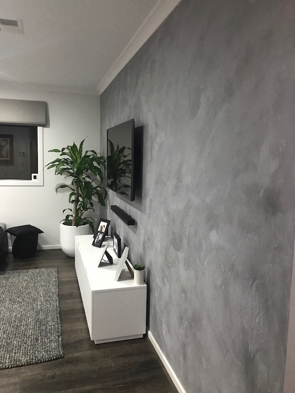 Fashionably Fabulous Feature Wall Concrete Look Render