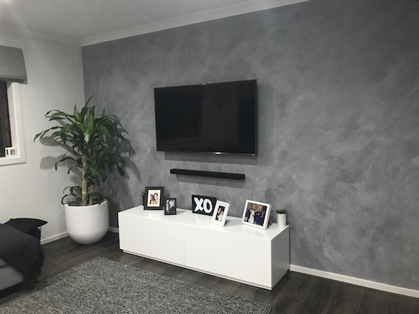 Fashionably Fabulous Feature Wall – Concrete Look Render