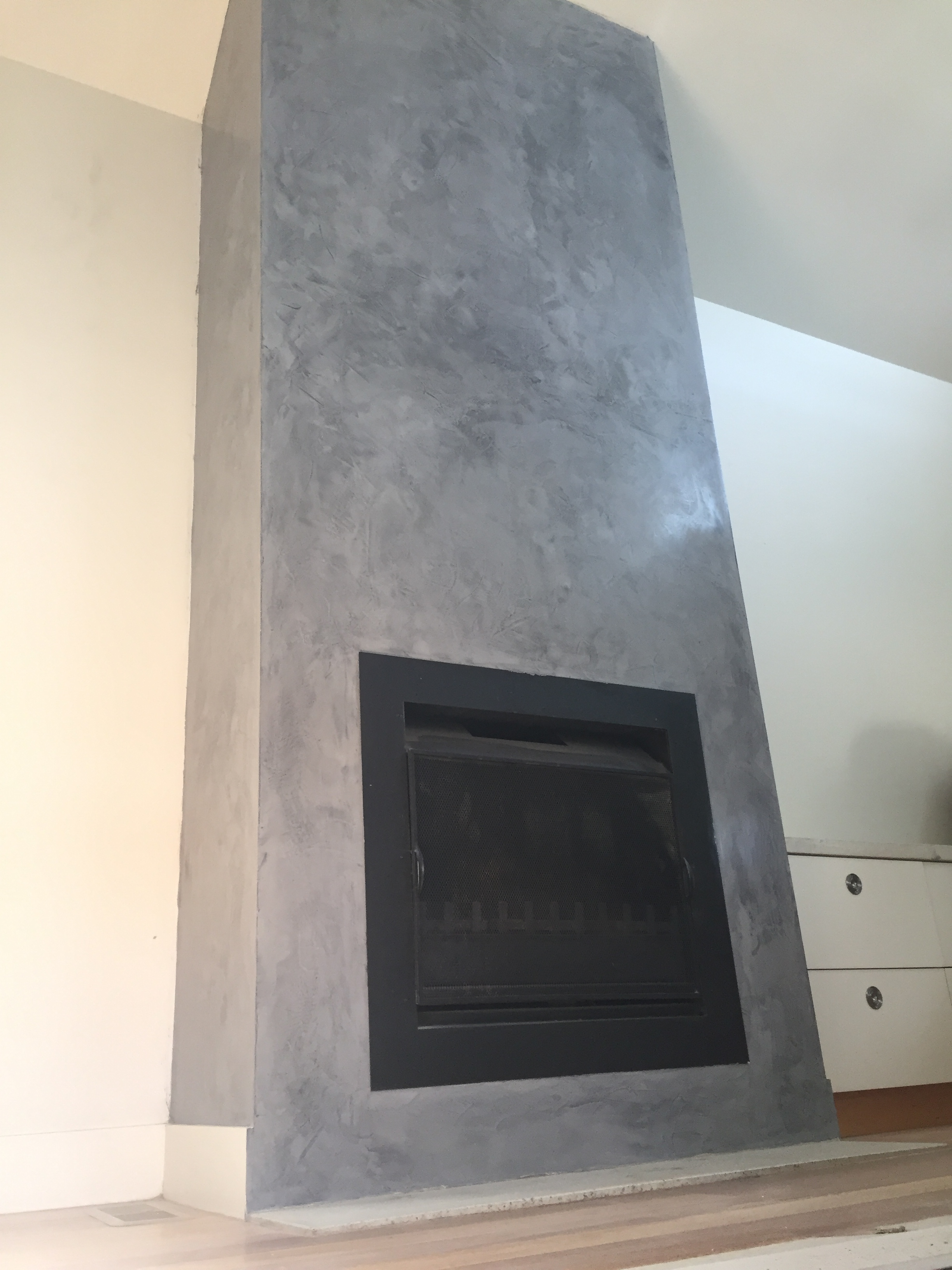 Smoke And Mirrors A Venetian Plaster Fireplace Render