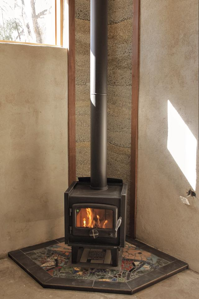 Hemp and Render Fireplace Feature